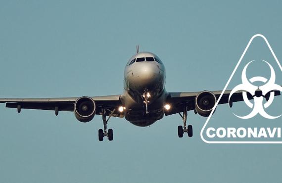 vliegtuig corona