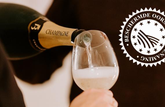 Beschermde oorsprongsbenaming en de smaak van champagnesorbet
